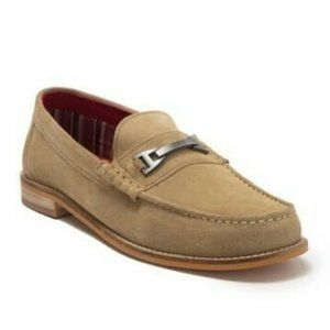 Base London Men's Bit Carriage Taupe Loafers US 11